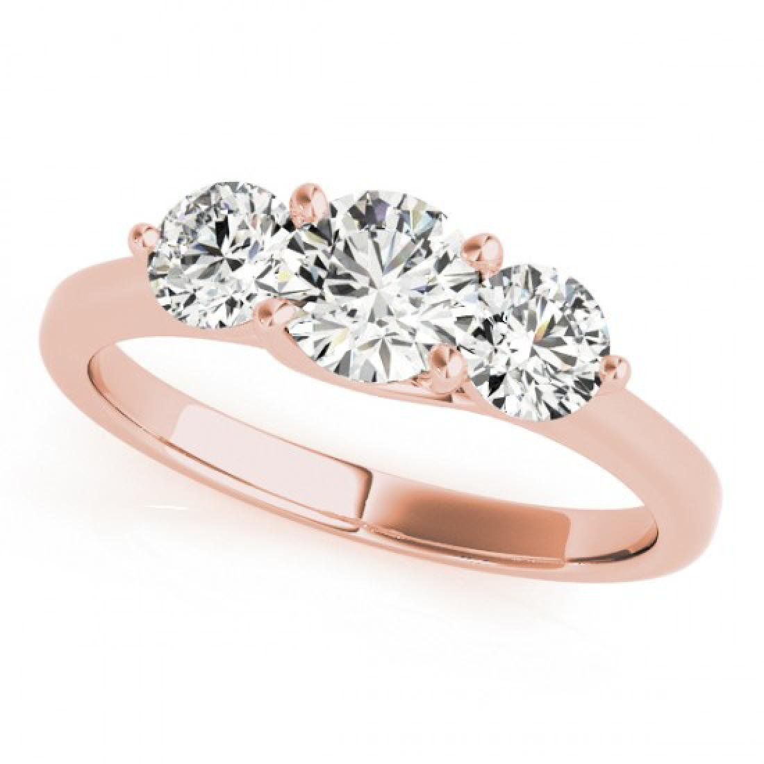 0.5 CTW Certified VS/SI Diamond 3 Stone Solitaire Ring - 2