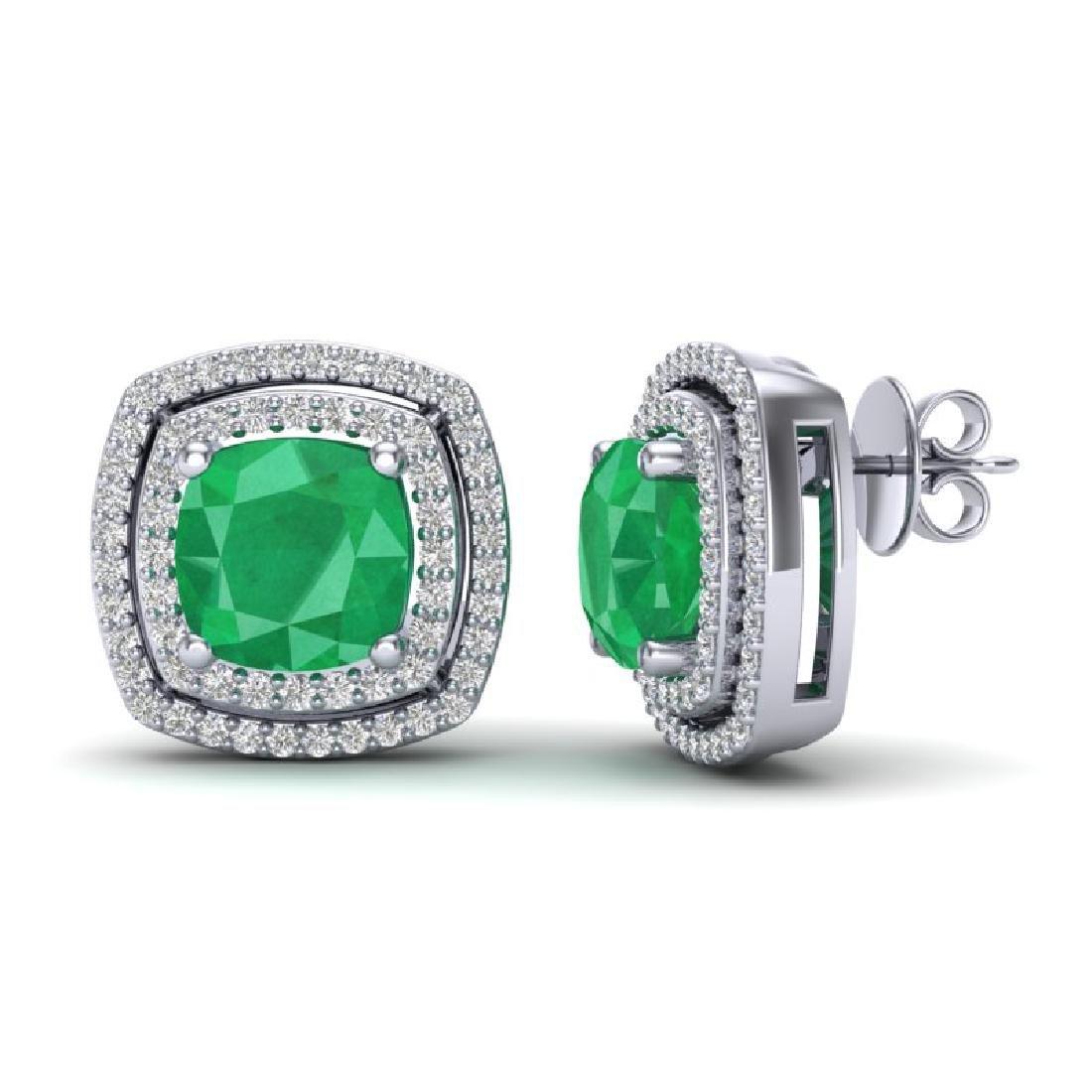 4.95 CTW Emerald & Micro Pave VS/SI Diamond Halo - 2