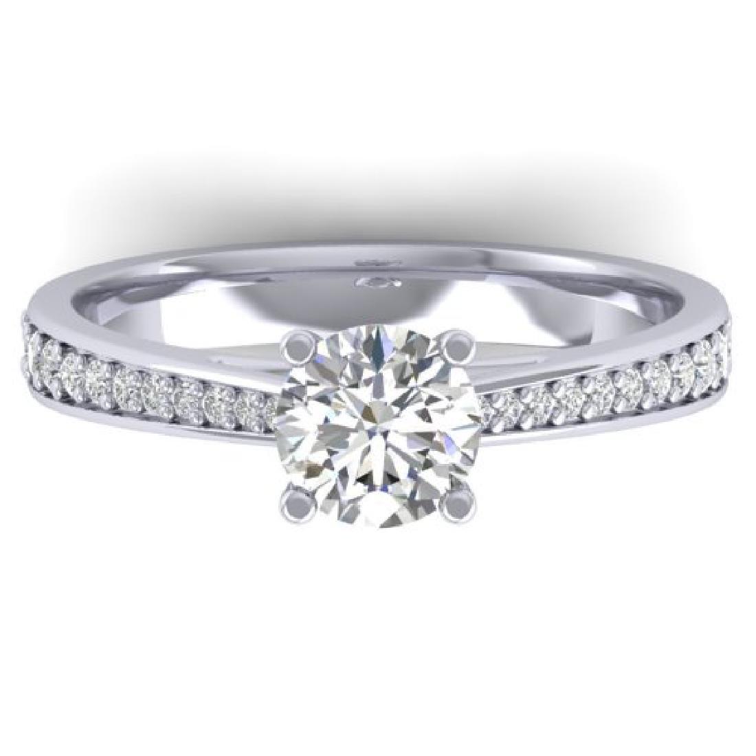 1.01 CTW Certified VS/SI Diamond Solitaire Art Deco