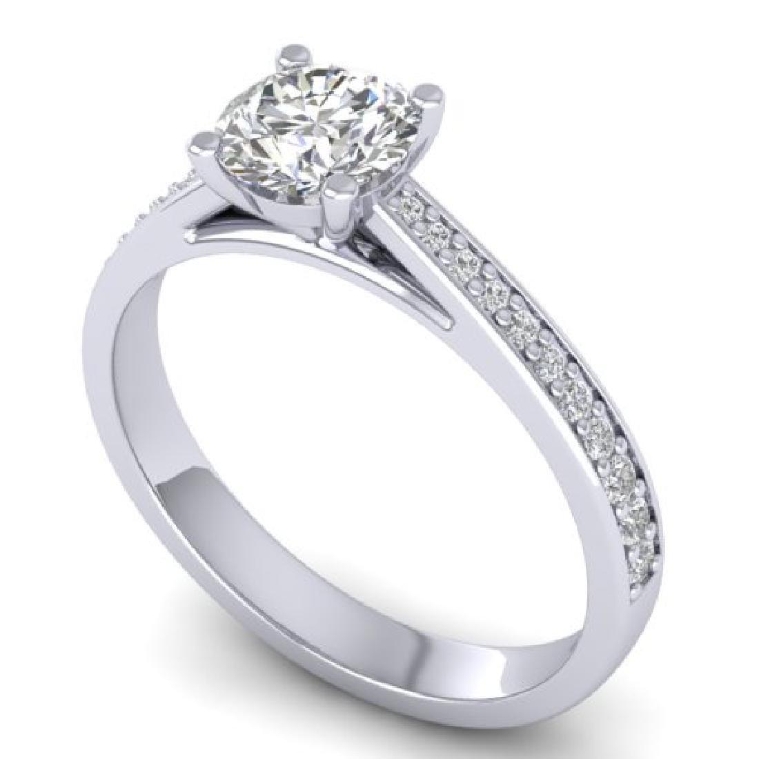 1.01 CTW Certified VS/SI Diamond Solitaire Art Deco - 2