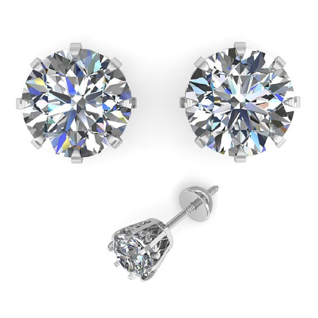 2.03 CTW VS/SI Diamond Stud Solitaire Earrings 14K - 2