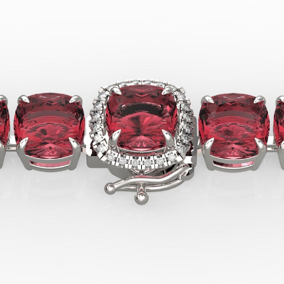 40 CTW Pink Tourmaline & Micro VS/SI Diamond Halo