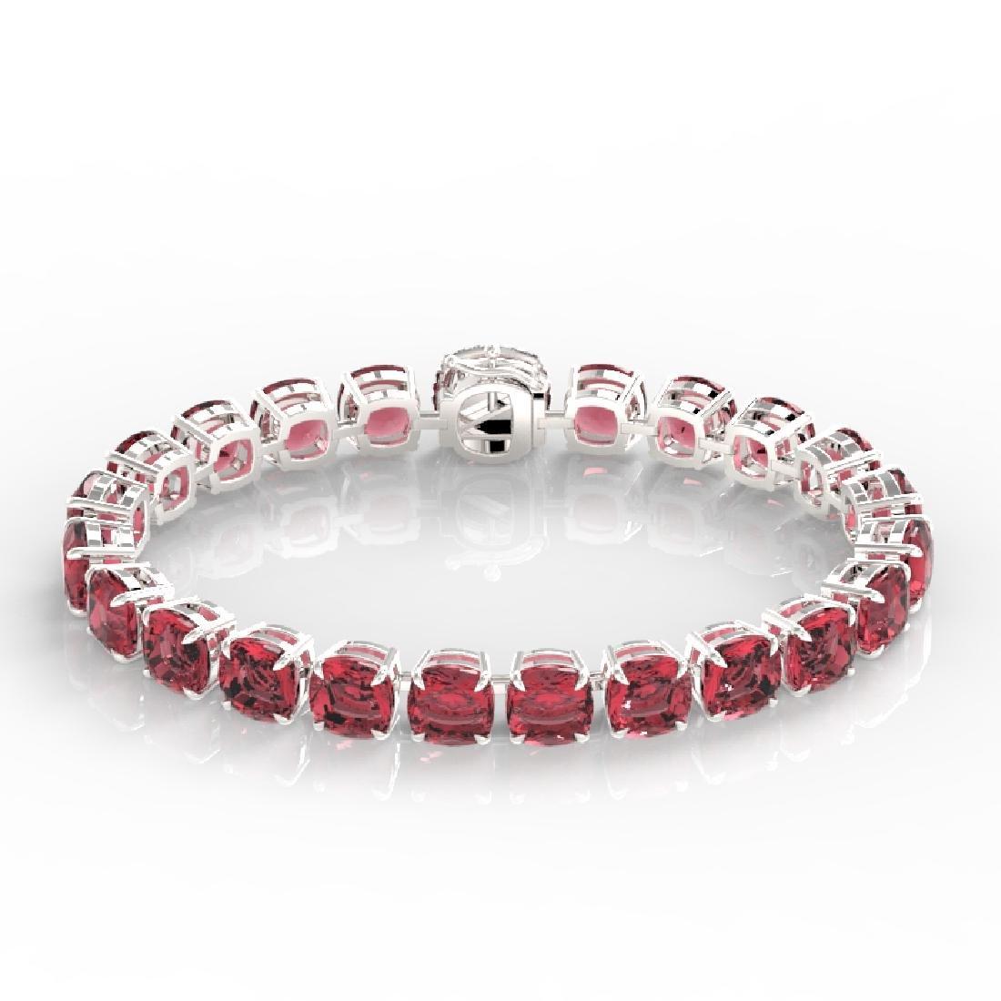 40 CTW Pink Tourmaline & Micro VS/SI Diamond Halo - 2