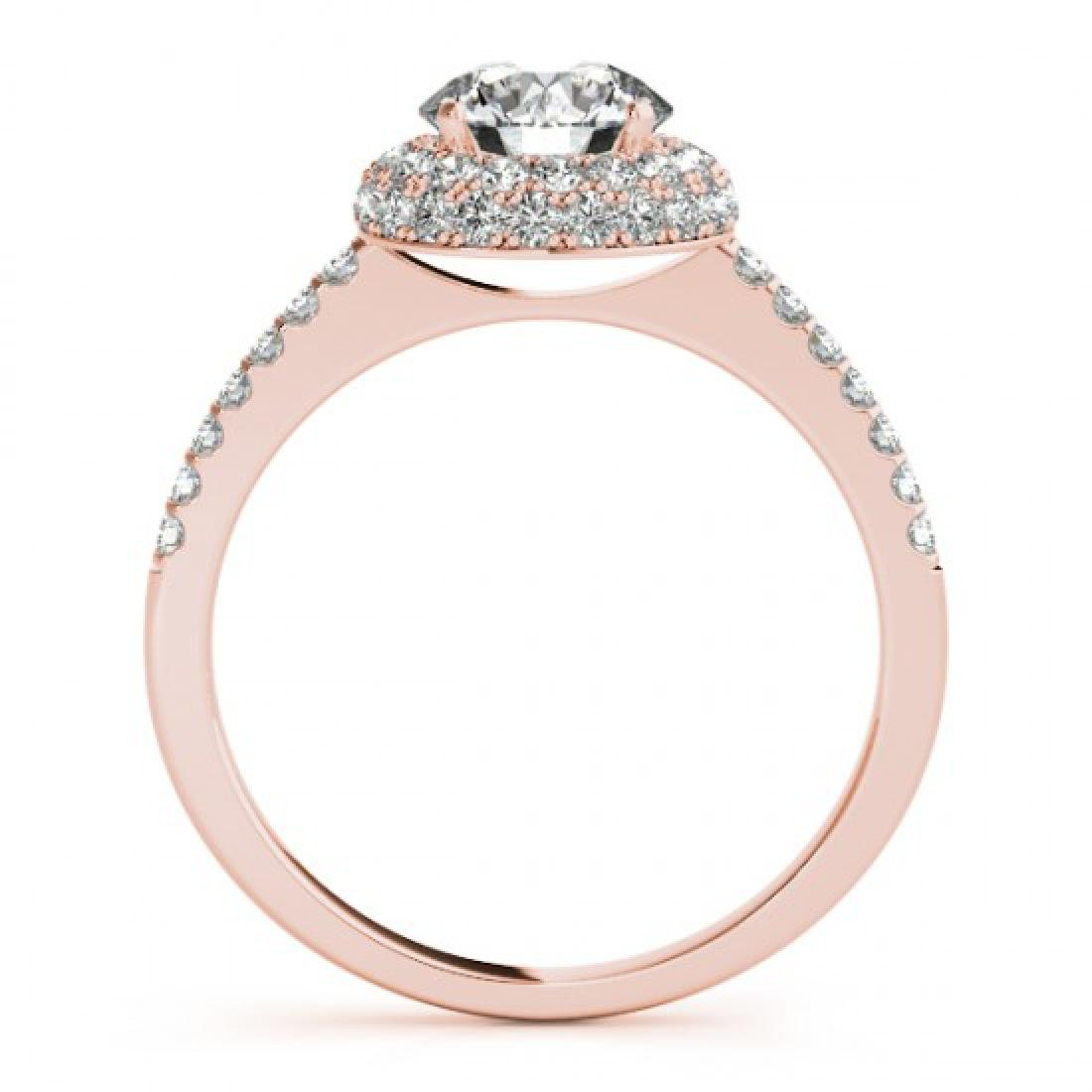 1.1 CTW Certified VS/SI Diamond Solitaire Halo Ring 14K - 2
