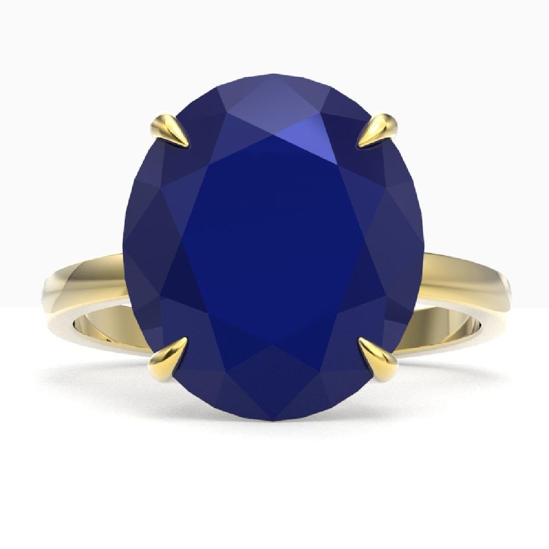 9 CTW Sapphire Designer Solitaire Engagement Ring 18K