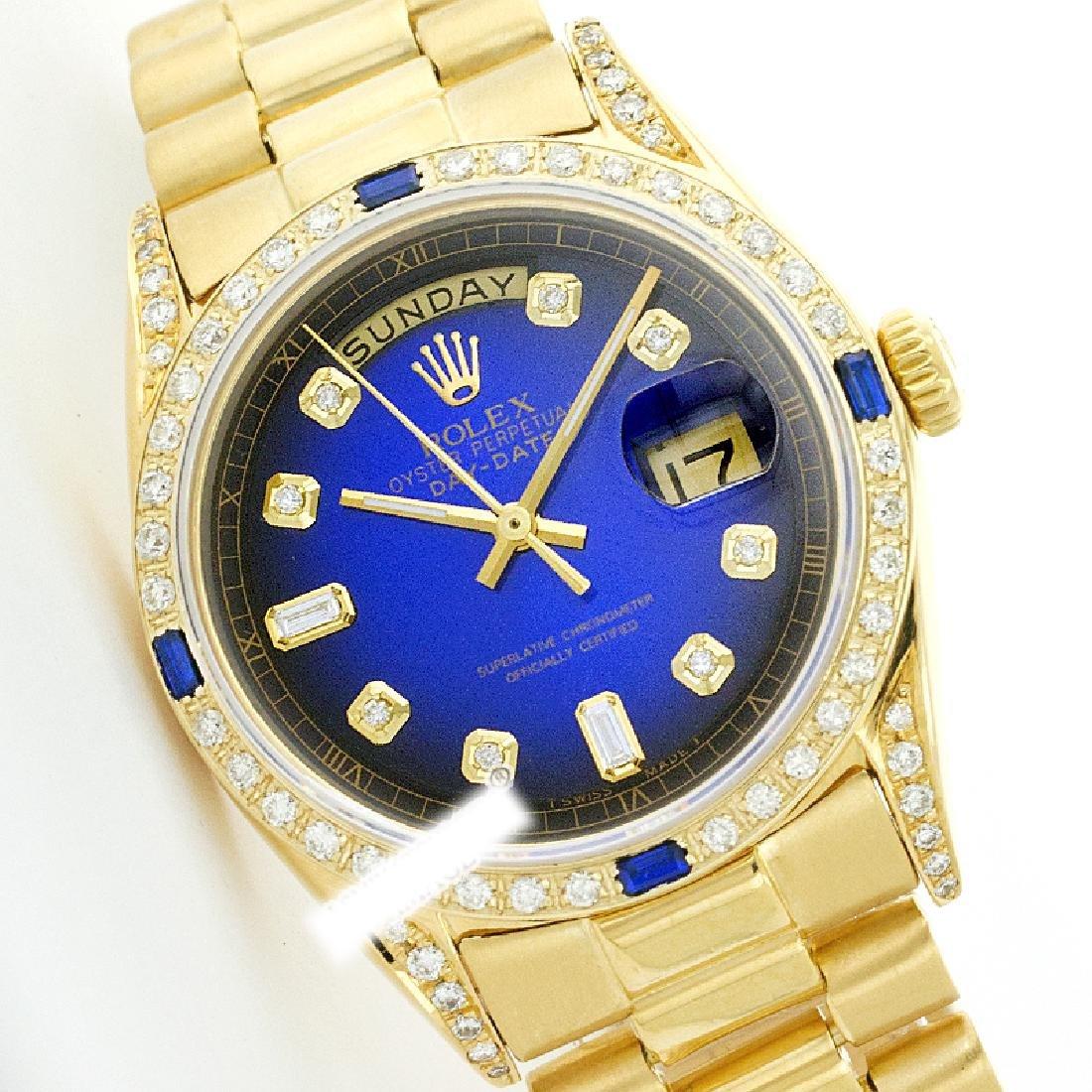 Rolex Men's 18K Yellow President, QuickSet, Diam Dial &