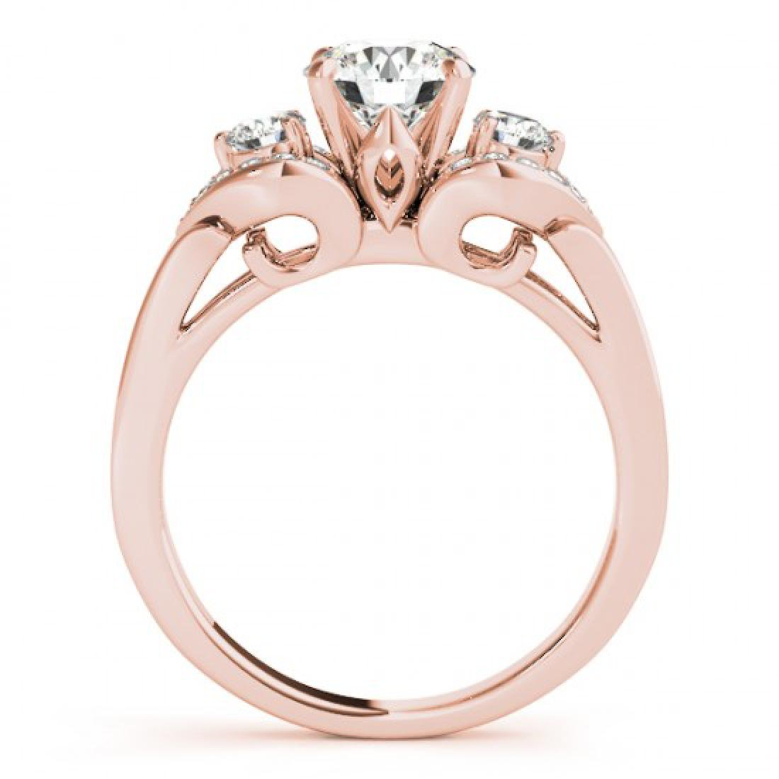 1.7 CTW Certified VS/SI Diamond 3 Stone Solitaire Ring - 2