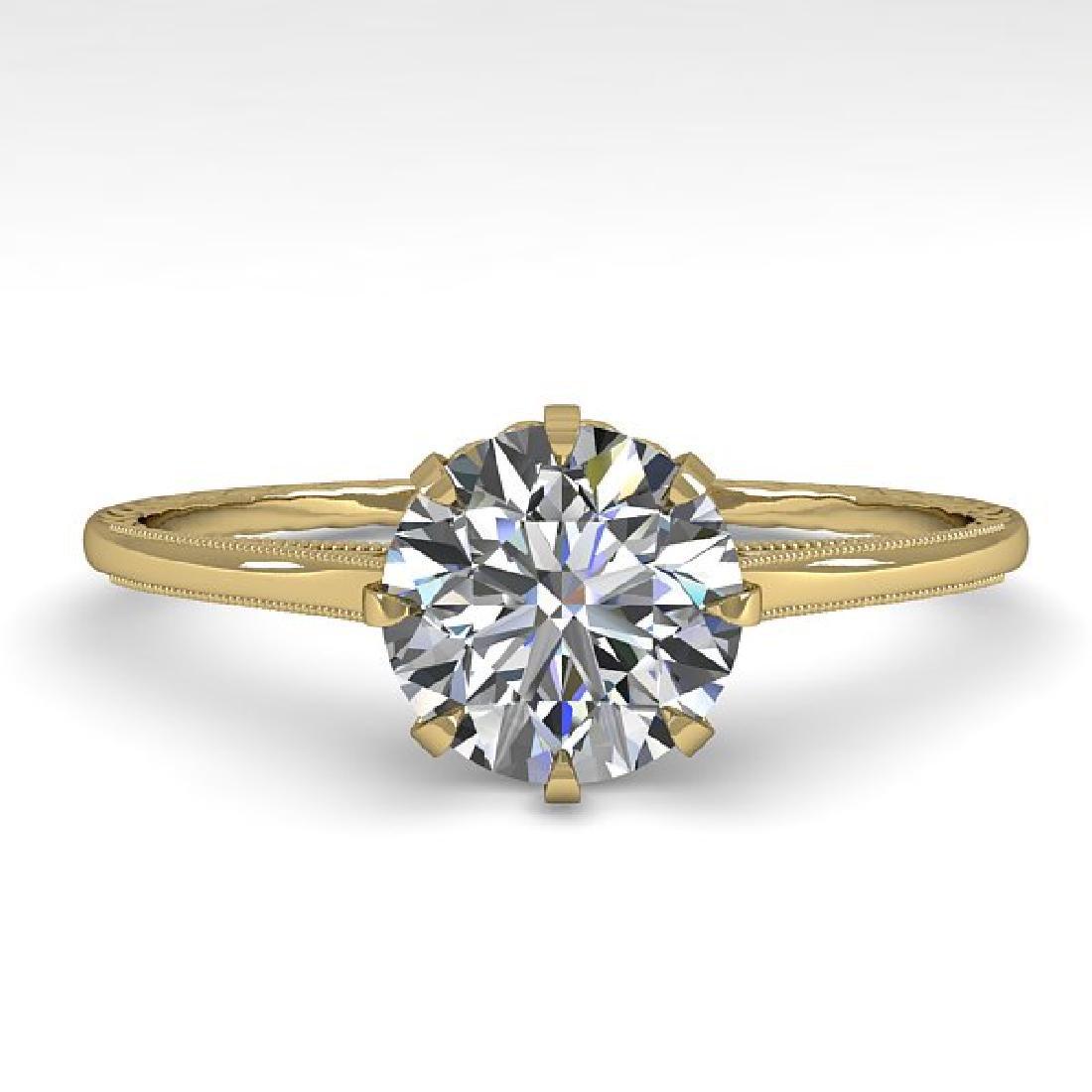 1.0 CTW Certified VS/SI Diamond Ring 14K Yellow Gold