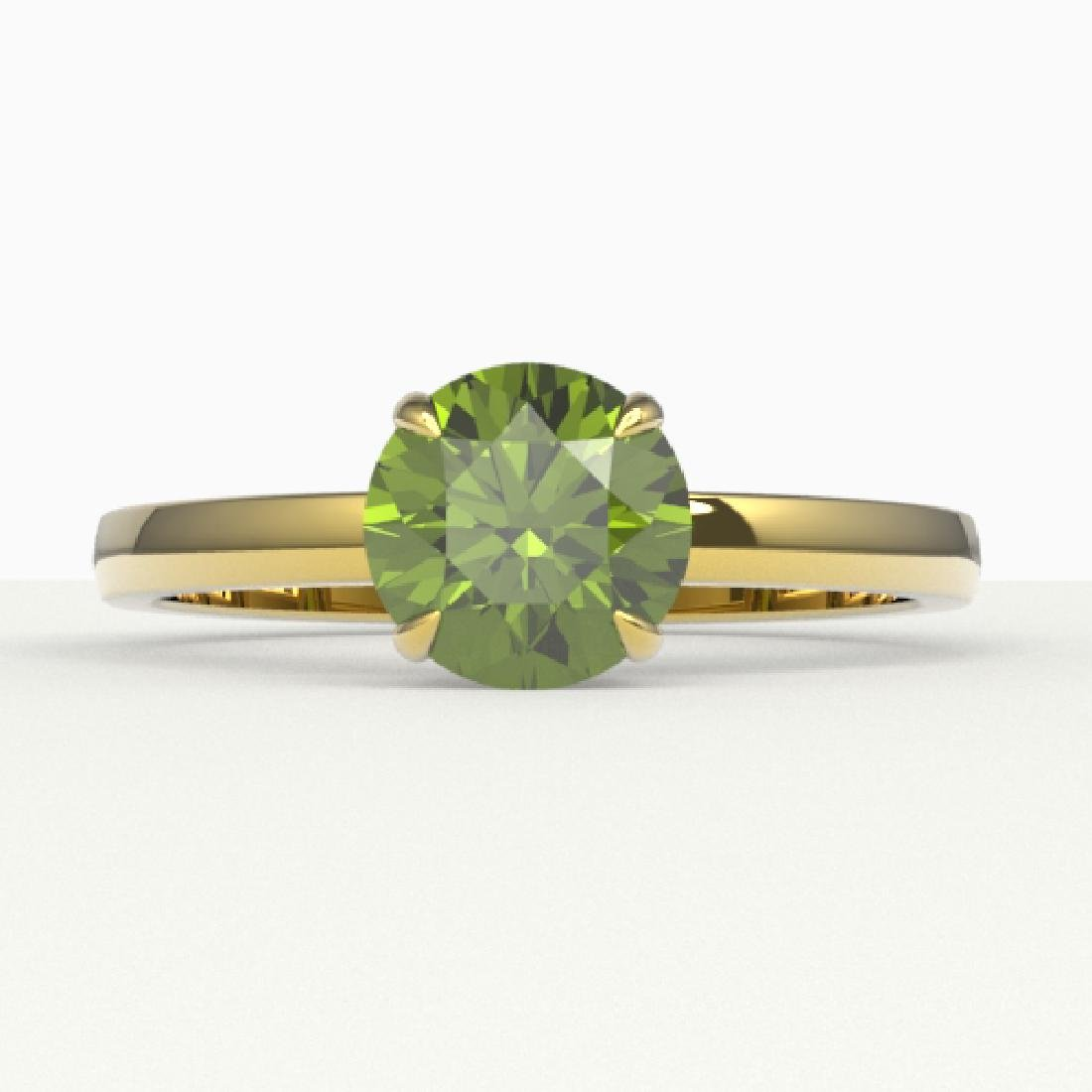 2 CTW Green Tourmaline Designer Inspired Solitaire
