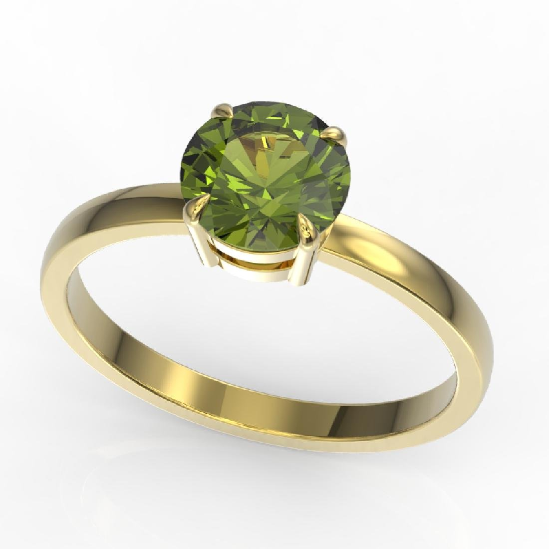 2 CTW Green Tourmaline Designer Inspired Solitaire - 2