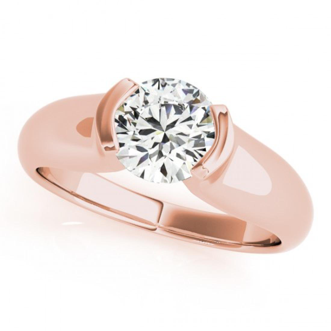 0.5 CTW Certified VS/SI Diamond Solitaire Ring 14K Rose - 2