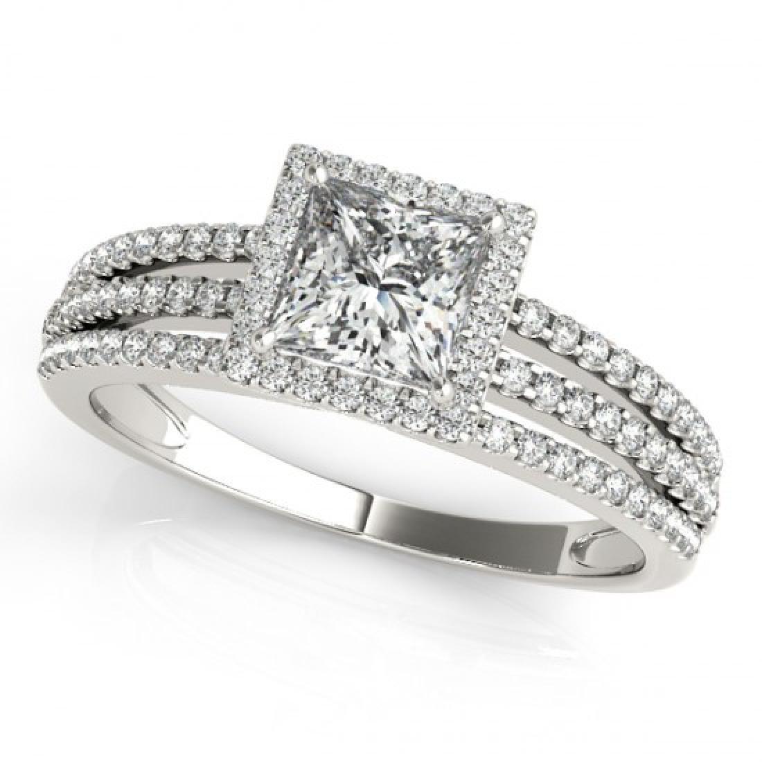 0.95 CTW Certified VS/SI Princess Diamond Solitaire