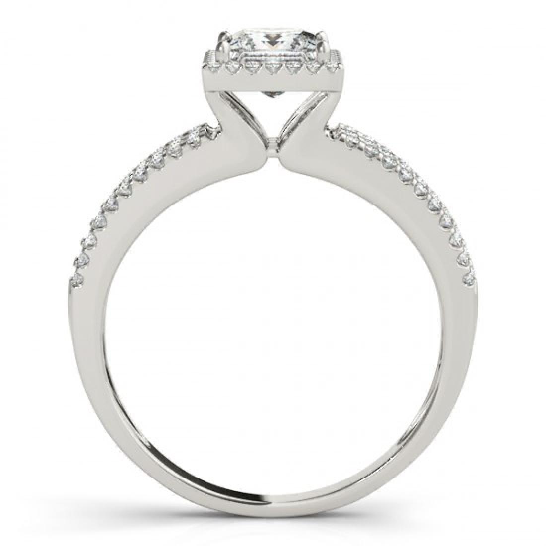 0.95 CTW Certified VS/SI Princess Diamond Solitaire - 2