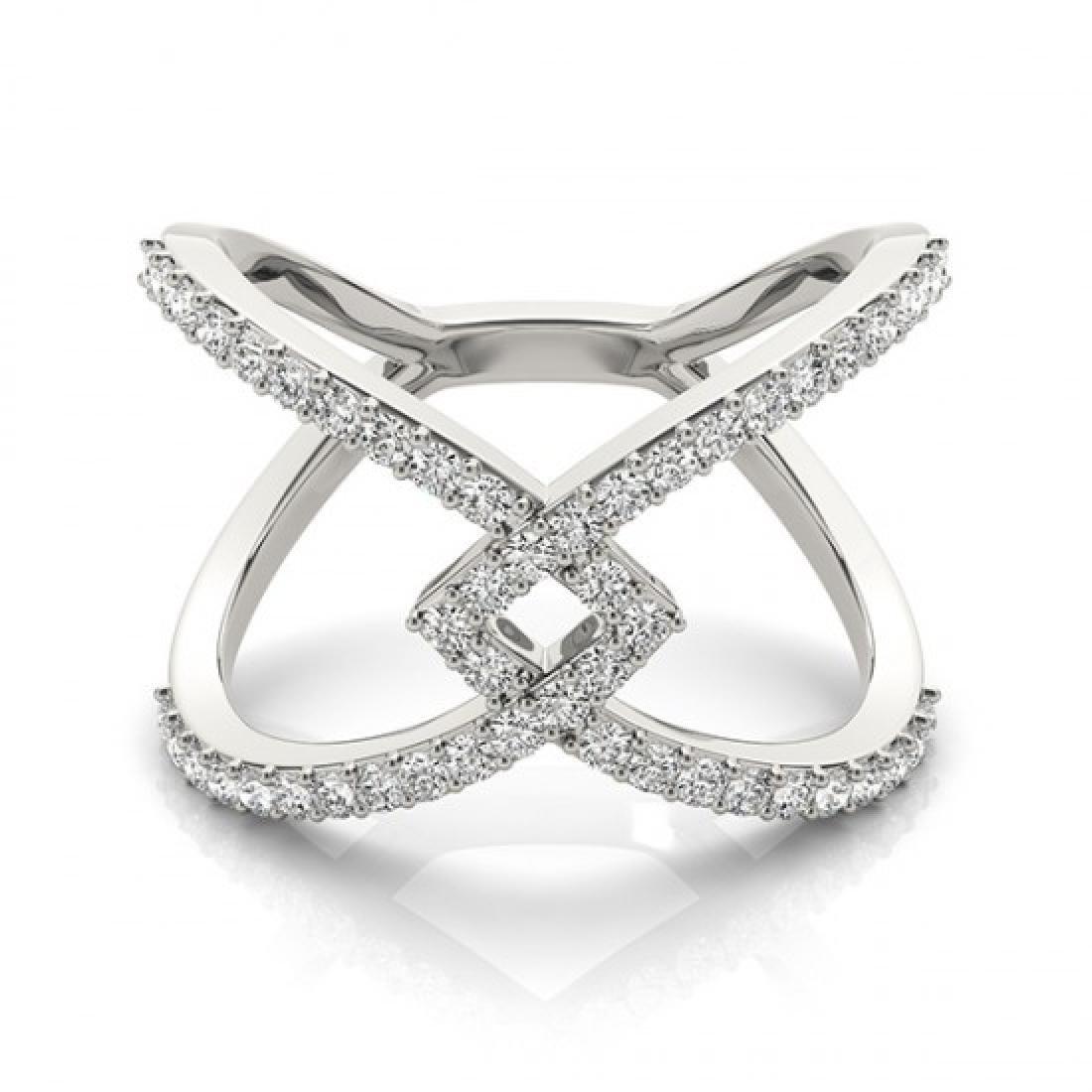 0.60 CTW Certified VS/SI Diamond Fashion Ring 14K White
