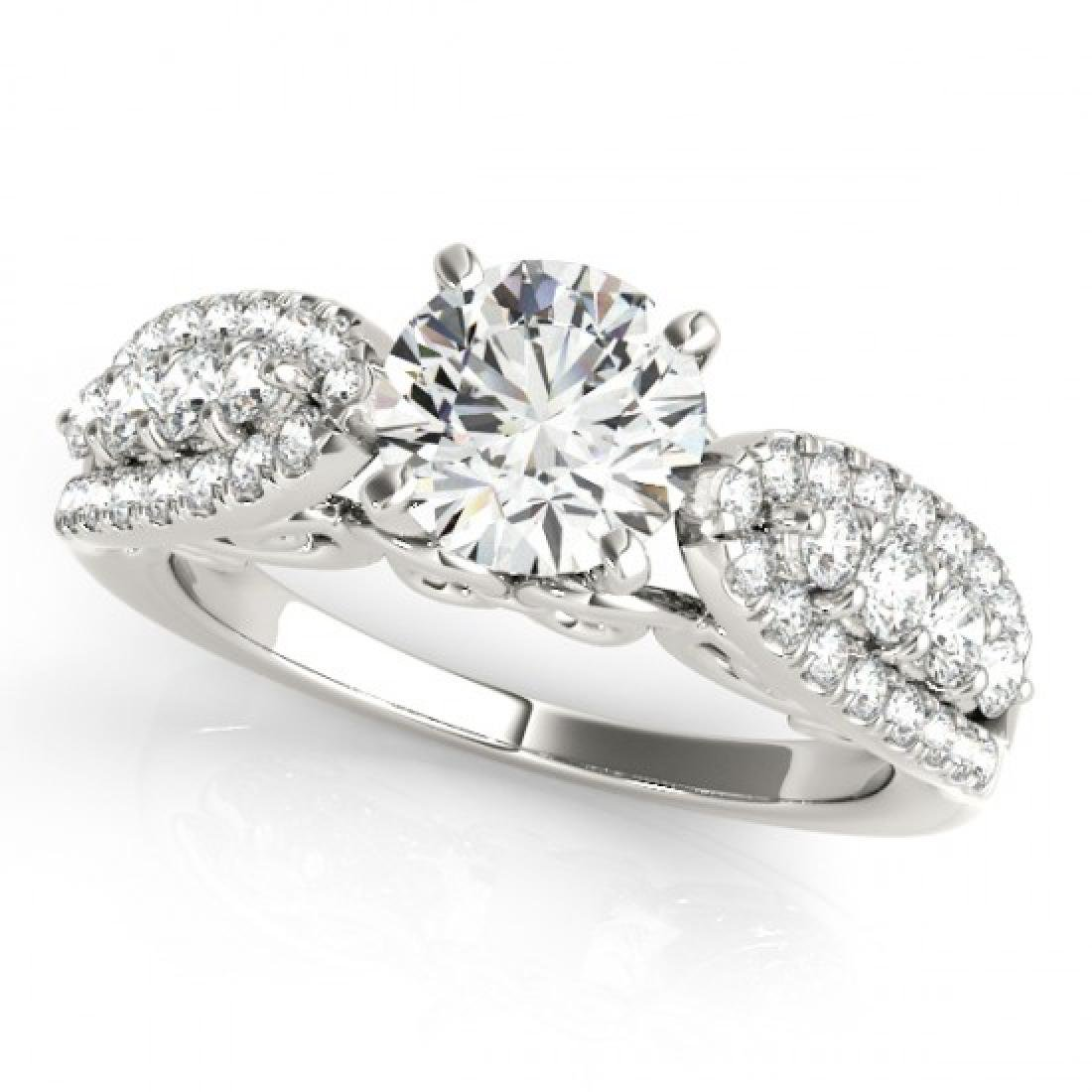 1.45 CTW Certified VS/SI Diamond Solitaire Ring 14K