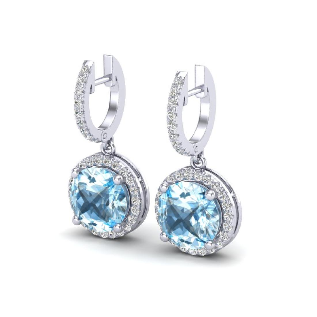 5.50 CTW Sky Blue Topaz & Micro Pave VS/SI Diamond