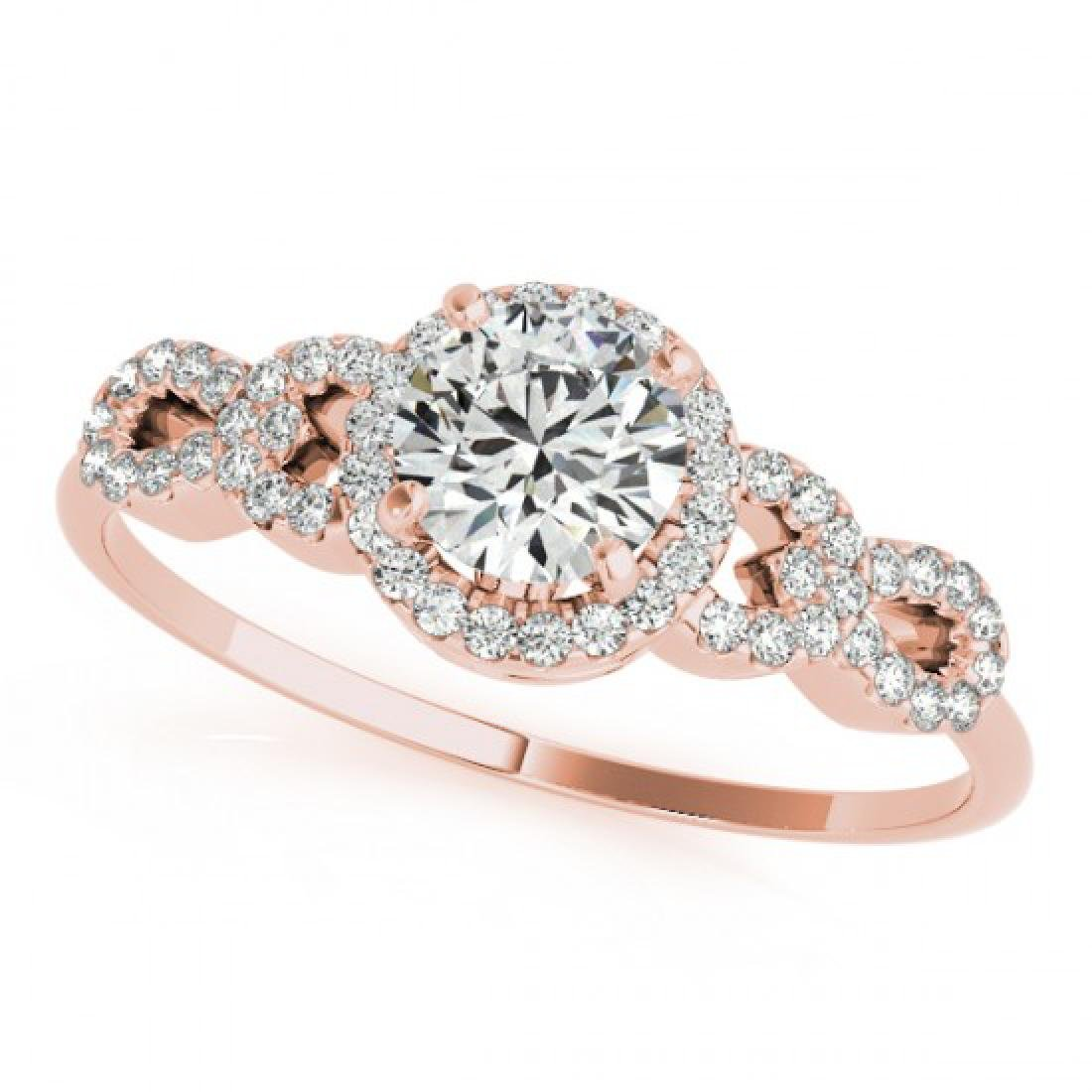 1.08 CTW Certified VS/SI Diamond Solitaire Ring 14K