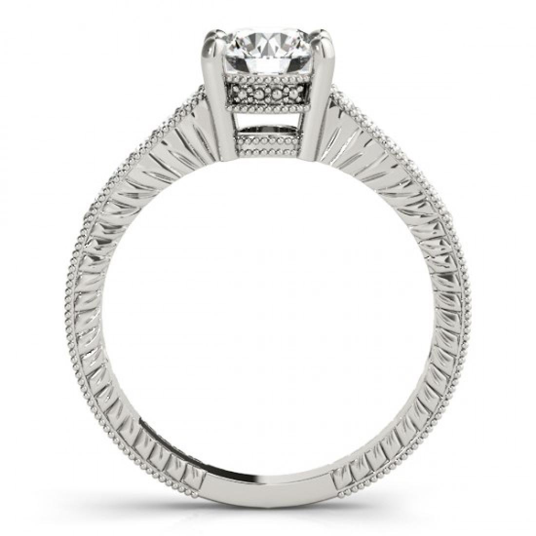 0.34 CTW Certified VS/SI Diamond Solitaire Antique Ring - 2
