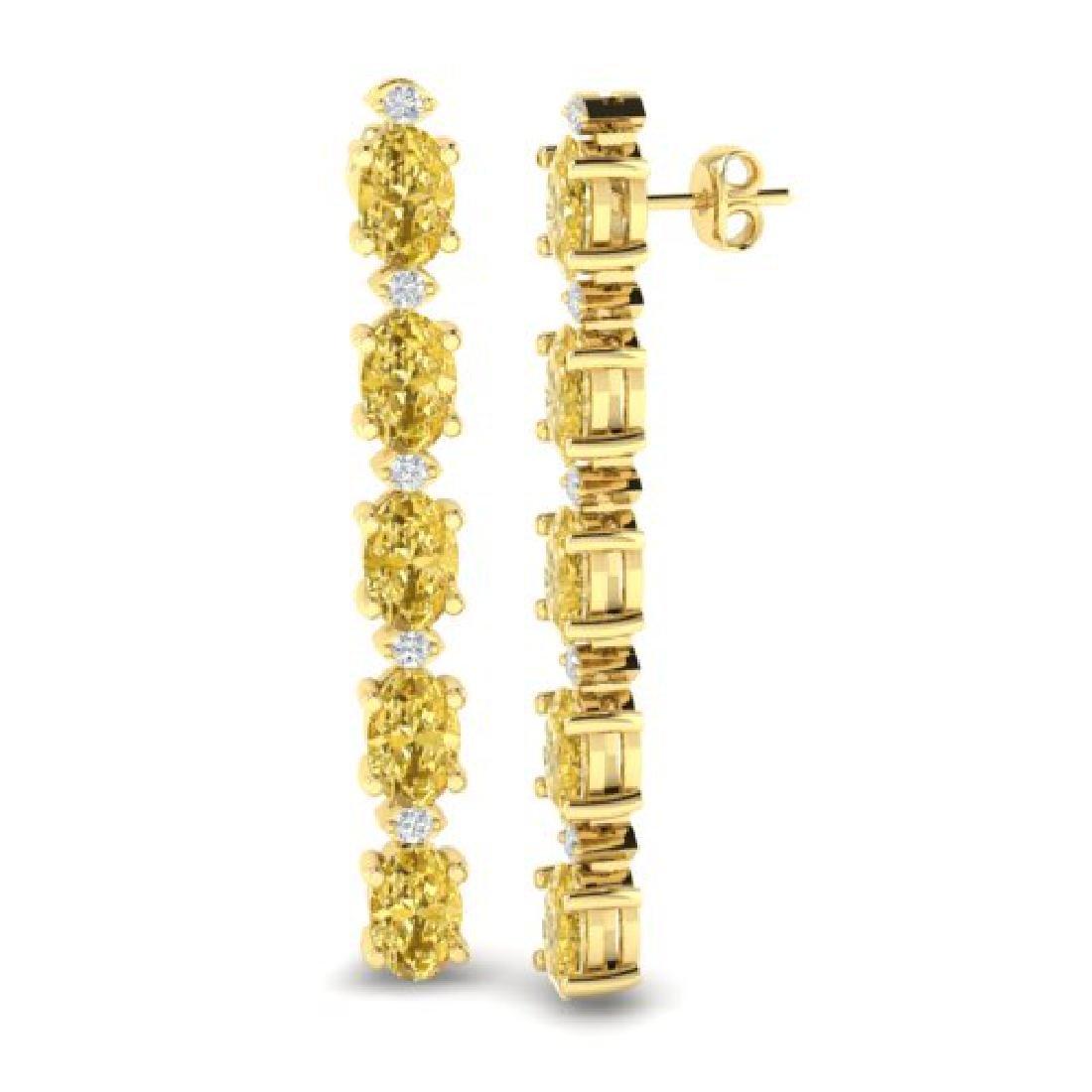 6 CTW Citrine & VS/SI Diamond Tennis Earrings 10K - 2