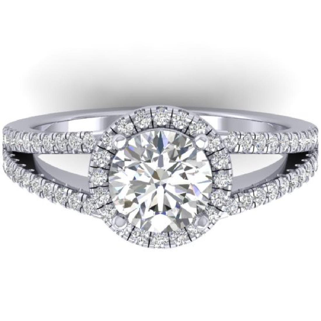 2 CTW Certified VS/SI Diamond Solitaire Micro Halo Ring