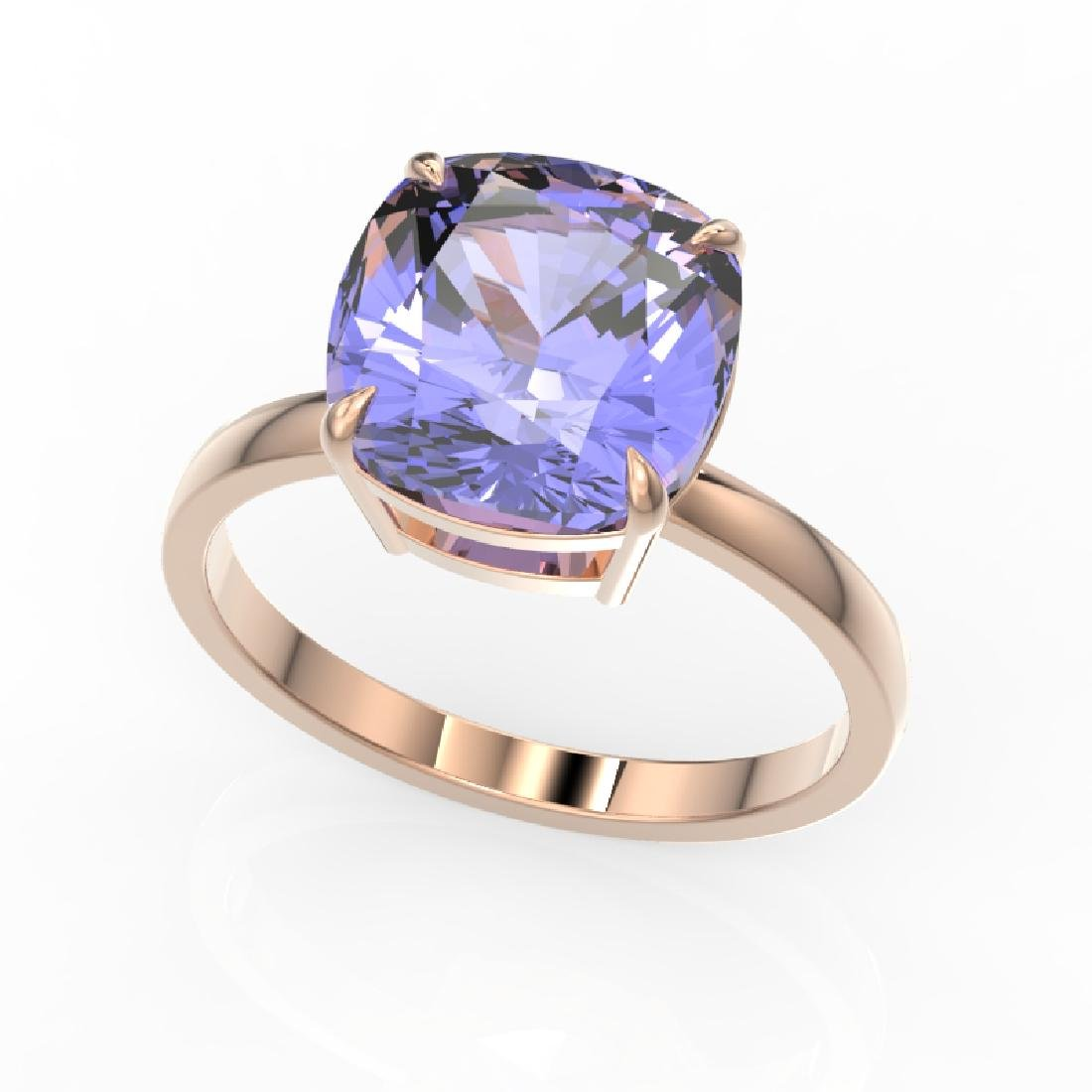 6 CTW Tanzanite Designer Inspired Solitaire Engagement - 2