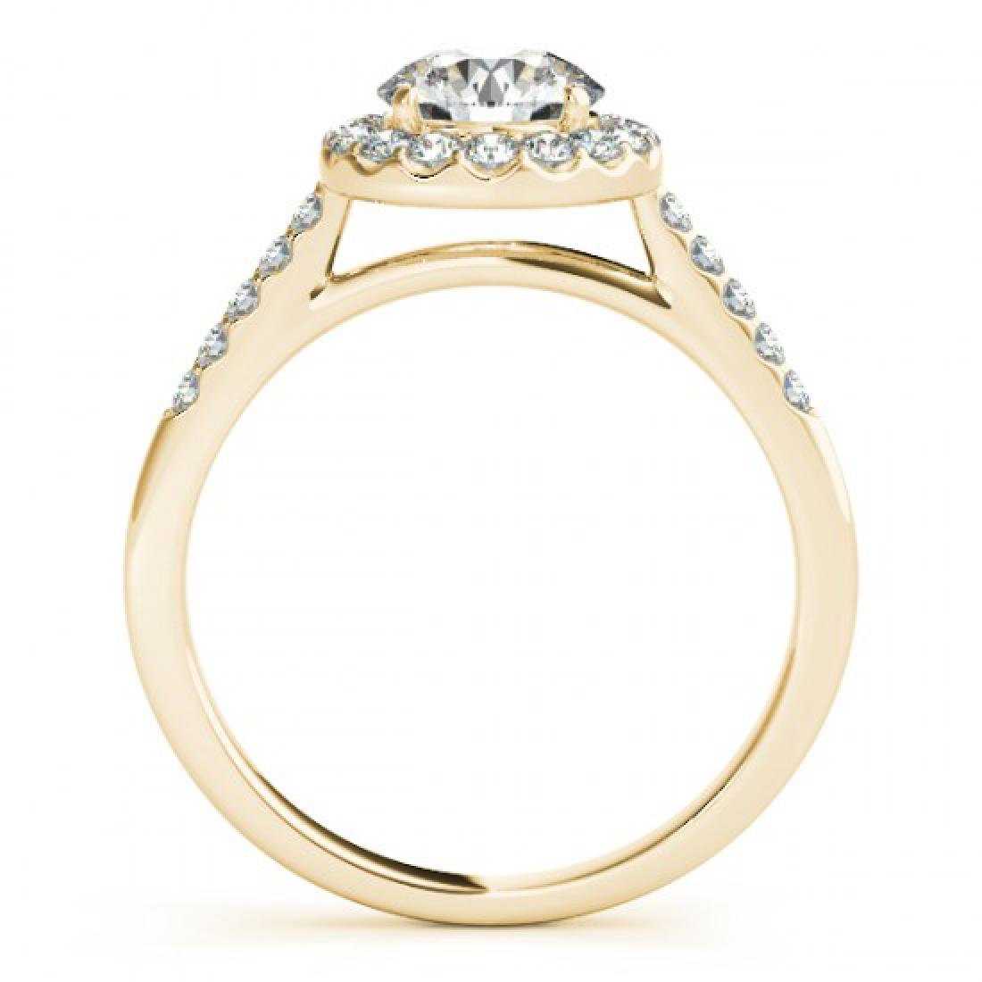 1.07 CTW Certified VS/SI Diamond Solitaire Halo Ring - 2