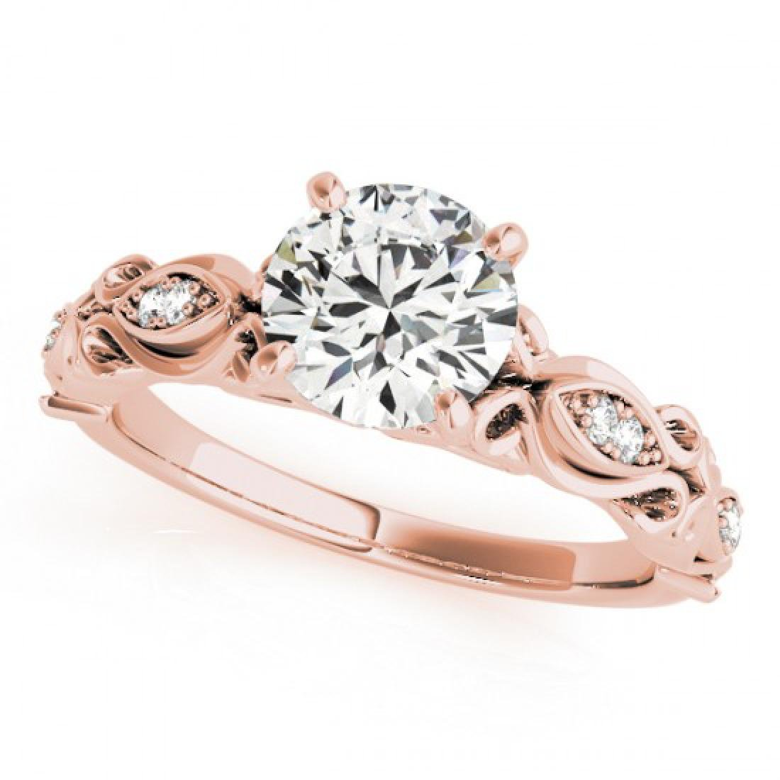 0.85 CTW Certified VS/SI Diamond Solitaire Antique Ring
