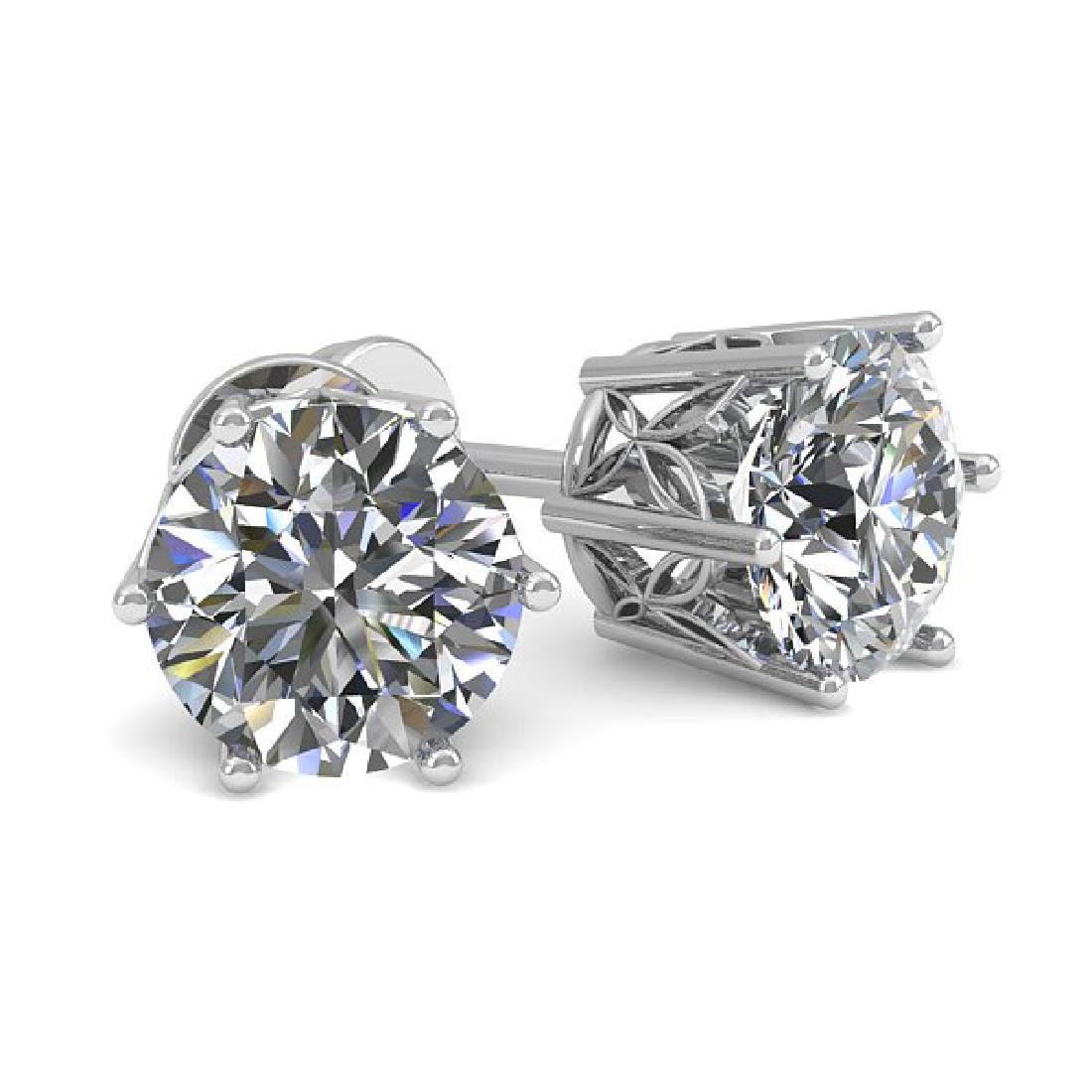 0.50 CTW Certified VS/SI Diamond Stud Art Deco Earrings
