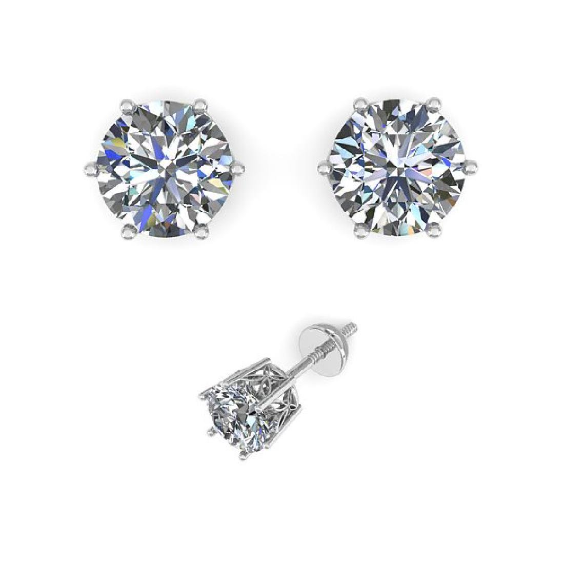 0.50 CTW Certified VS/SI Diamond Stud Art Deco Earrings - 2