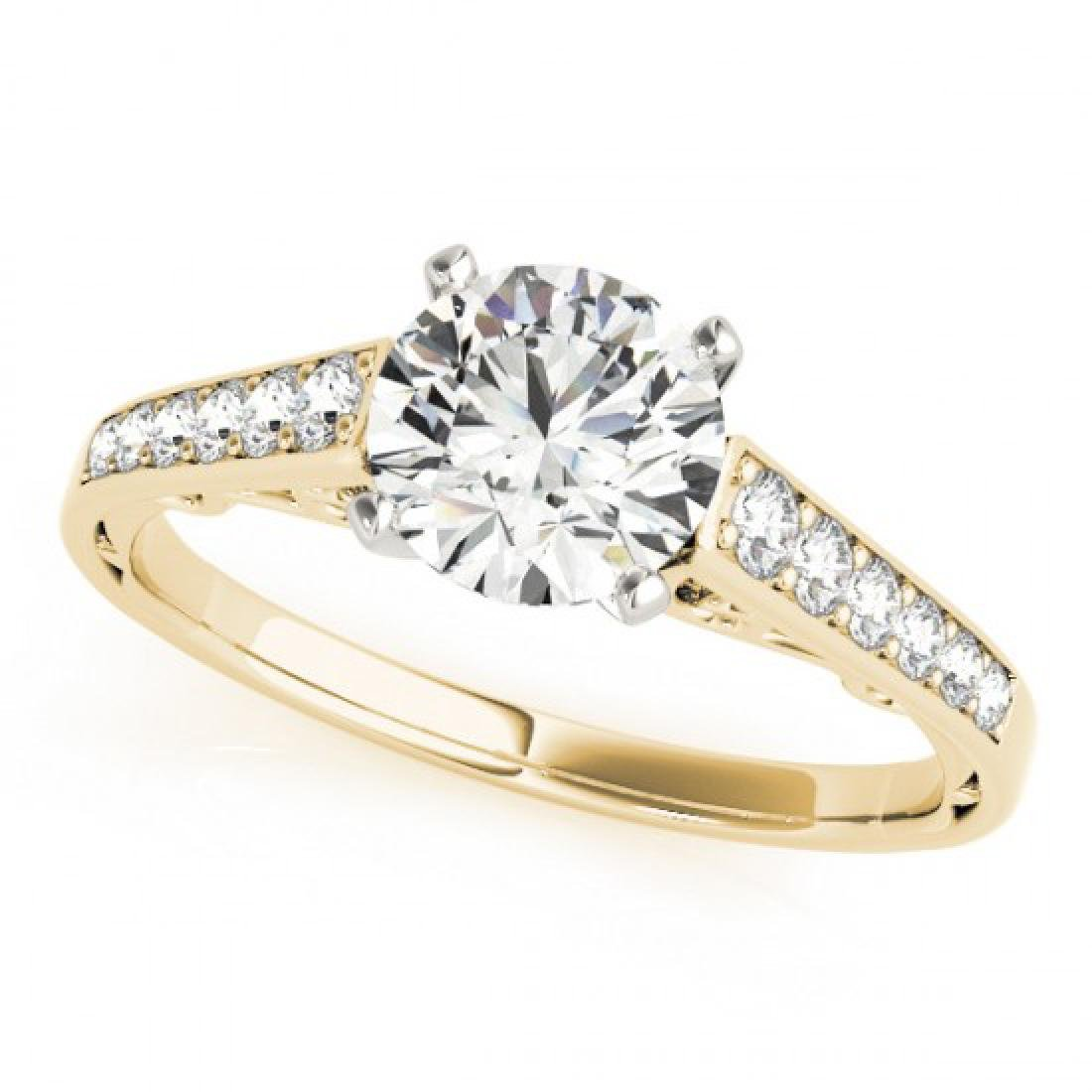 0.85 CTW Certified VS/SI Diamond Solitaire Ring 14K - 2