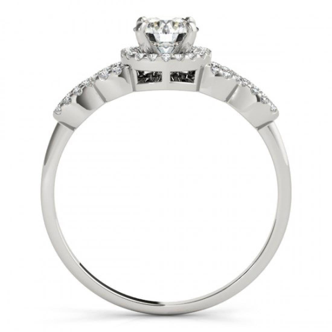 1.33 CTW Certified VS/SI Diamond Solitaire Ring 14K - 2