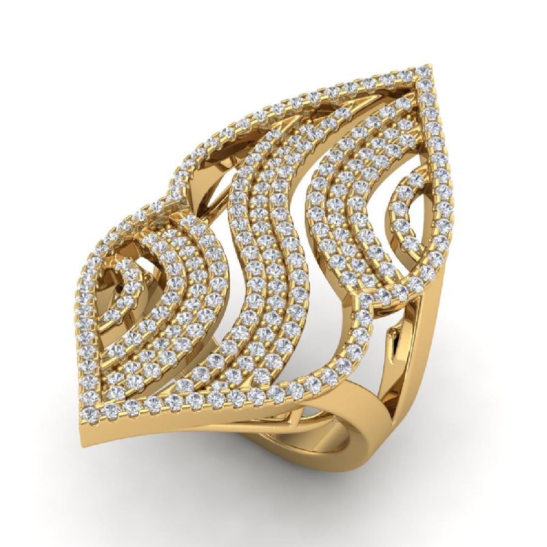 2 CTW Micro Pave VS/SI Diamond Designer Ring 14K Yellow