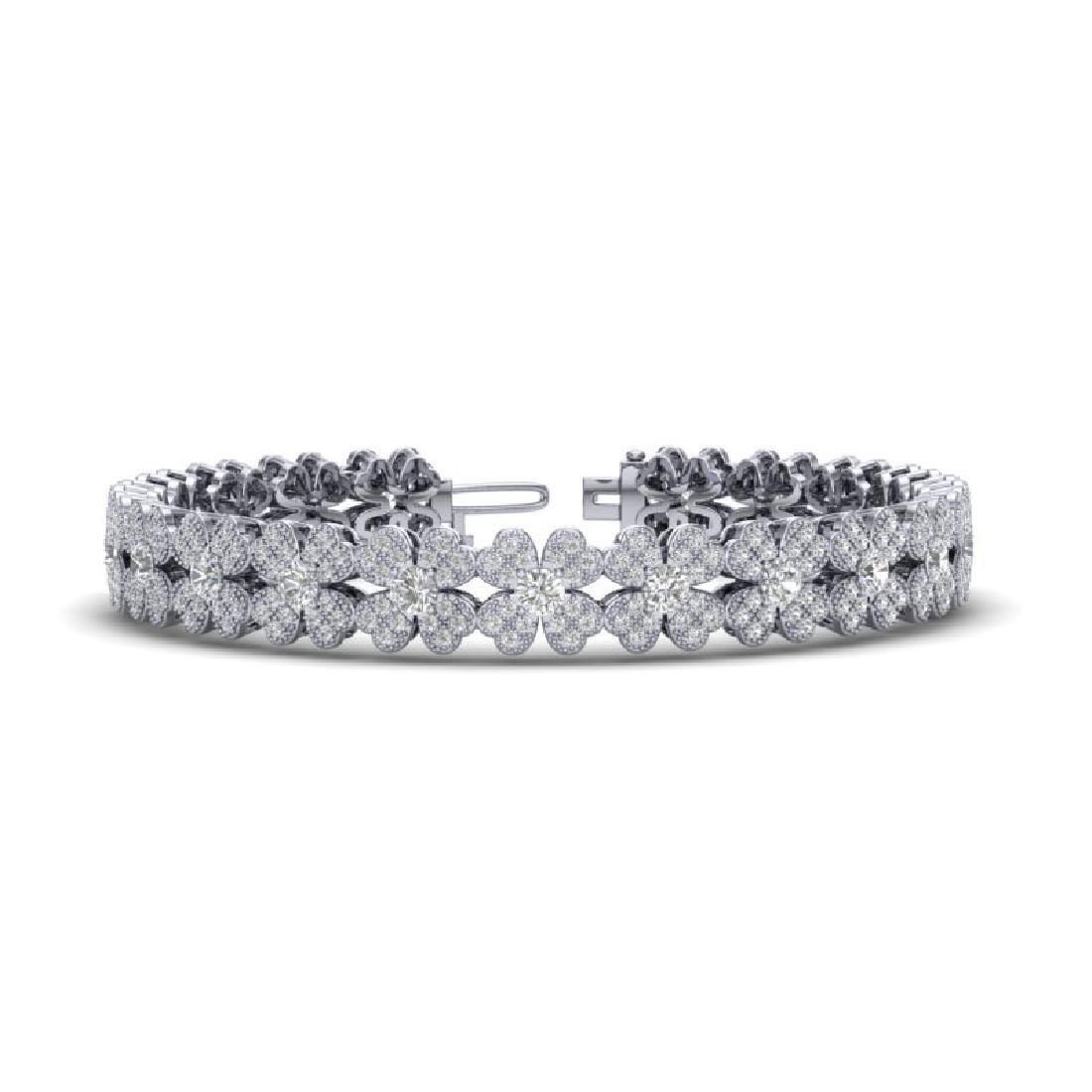 5.50 CTW Micro Pave VS/SI Diamond Bracelet 18K White