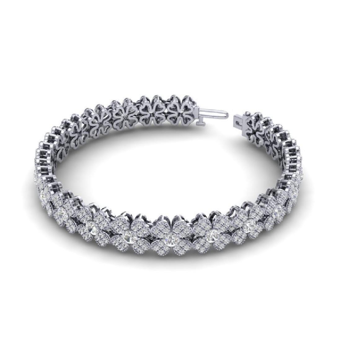 5.50 CTW Micro Pave VS/SI Diamond Bracelet 18K White - 2