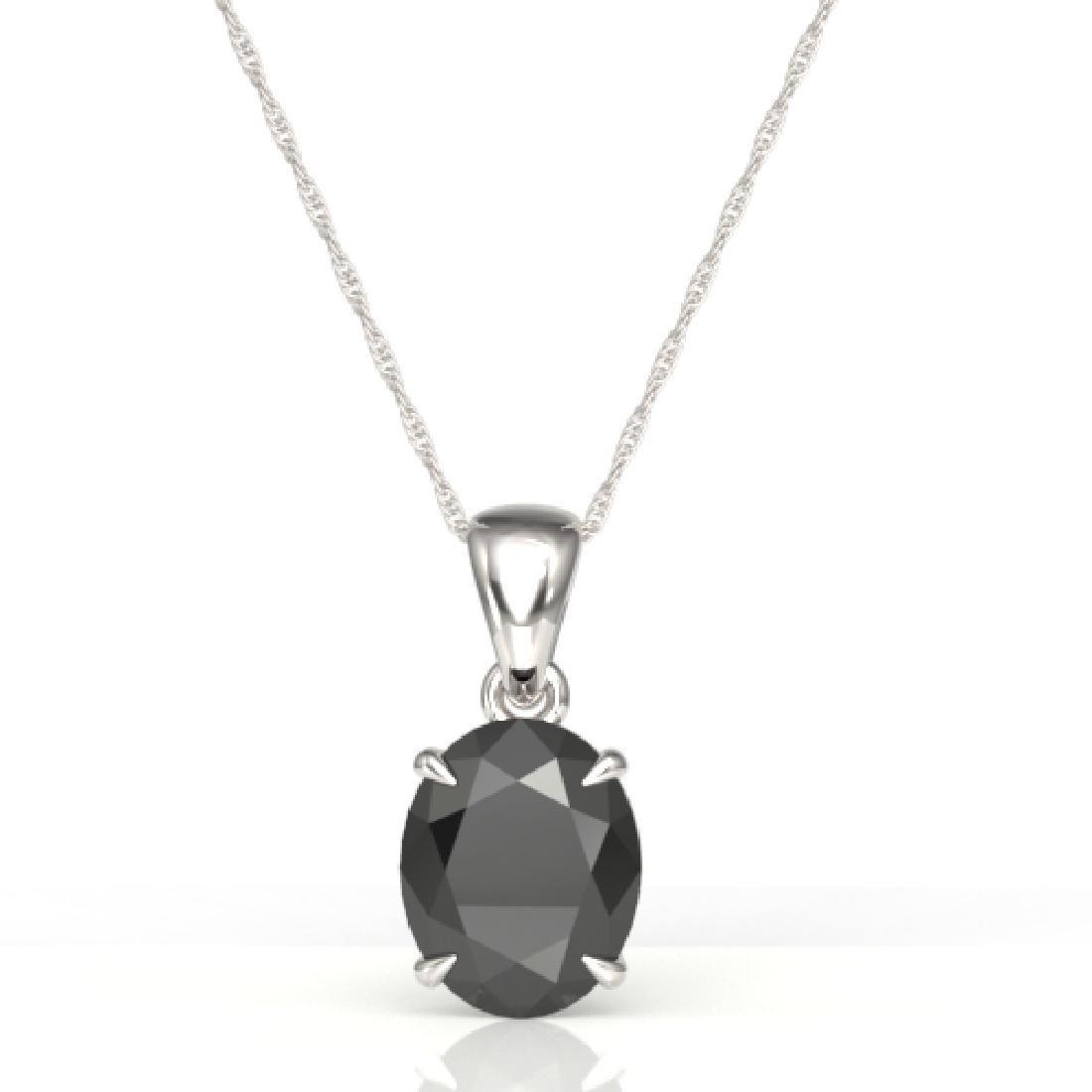 5 CTW Black VS/SI Diamond Designer Solitaire Necklace - 2
