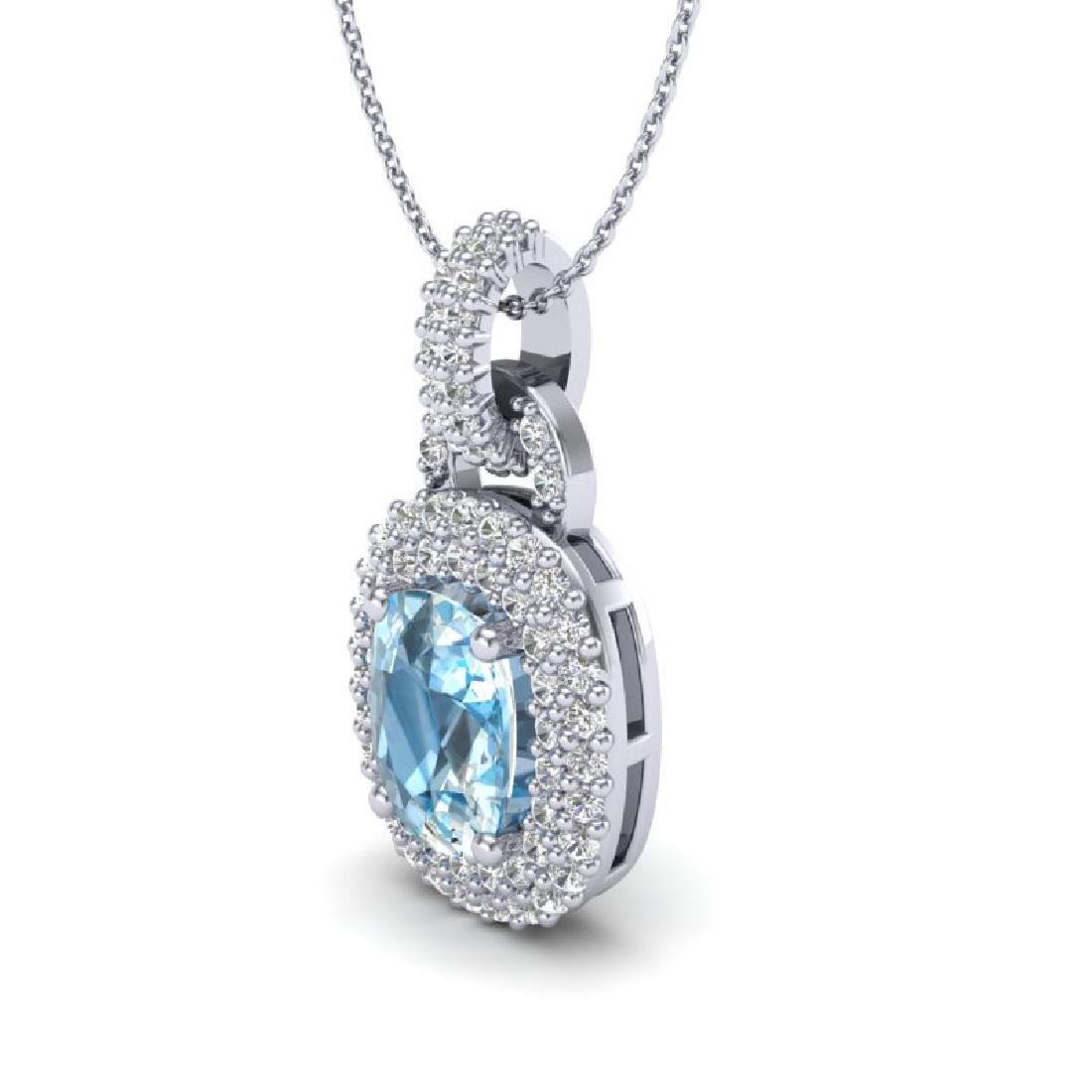 2.50 CTW Sky Blue Topaz & Micro Pave VS/SI Diamond - 2