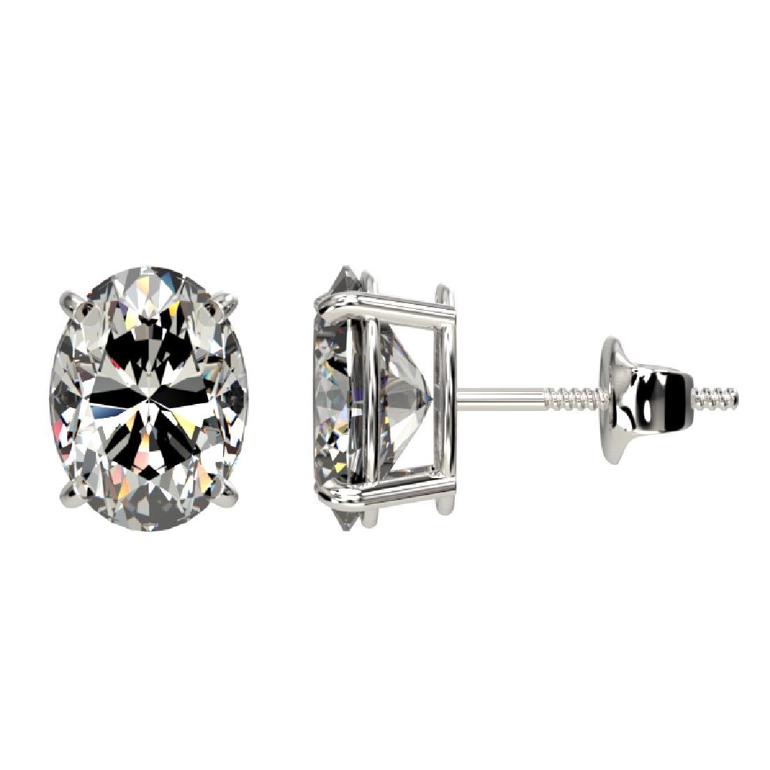 2.50 CTW Certified VS/SI Quality Oval Diamond Stud - 2
