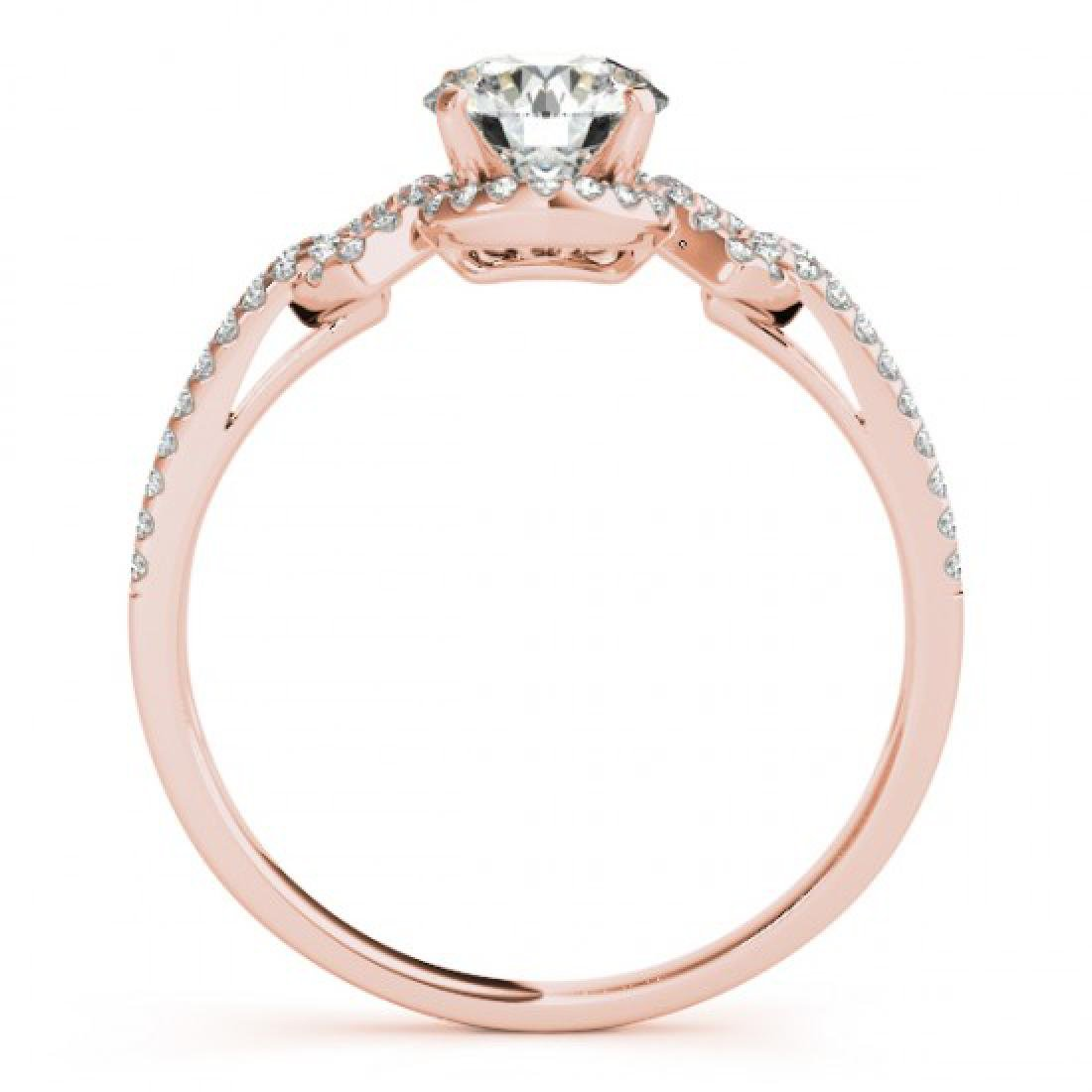 0.9 CTW Certified VS/SI Diamond Solitaire Ring 14K Rose - 2