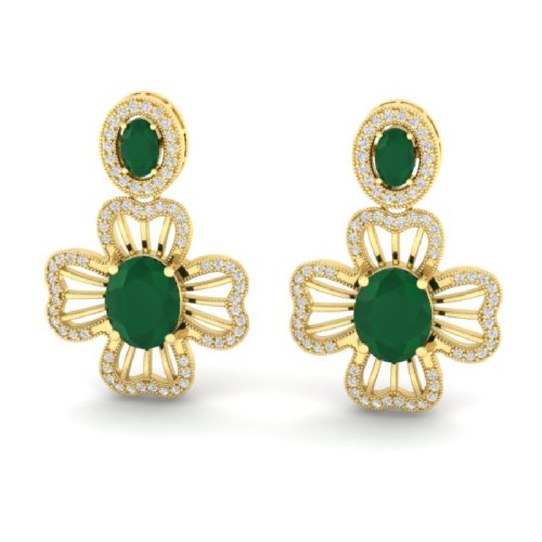 9.26 CTW Emerald & Micro Designer VS/SI Diamond