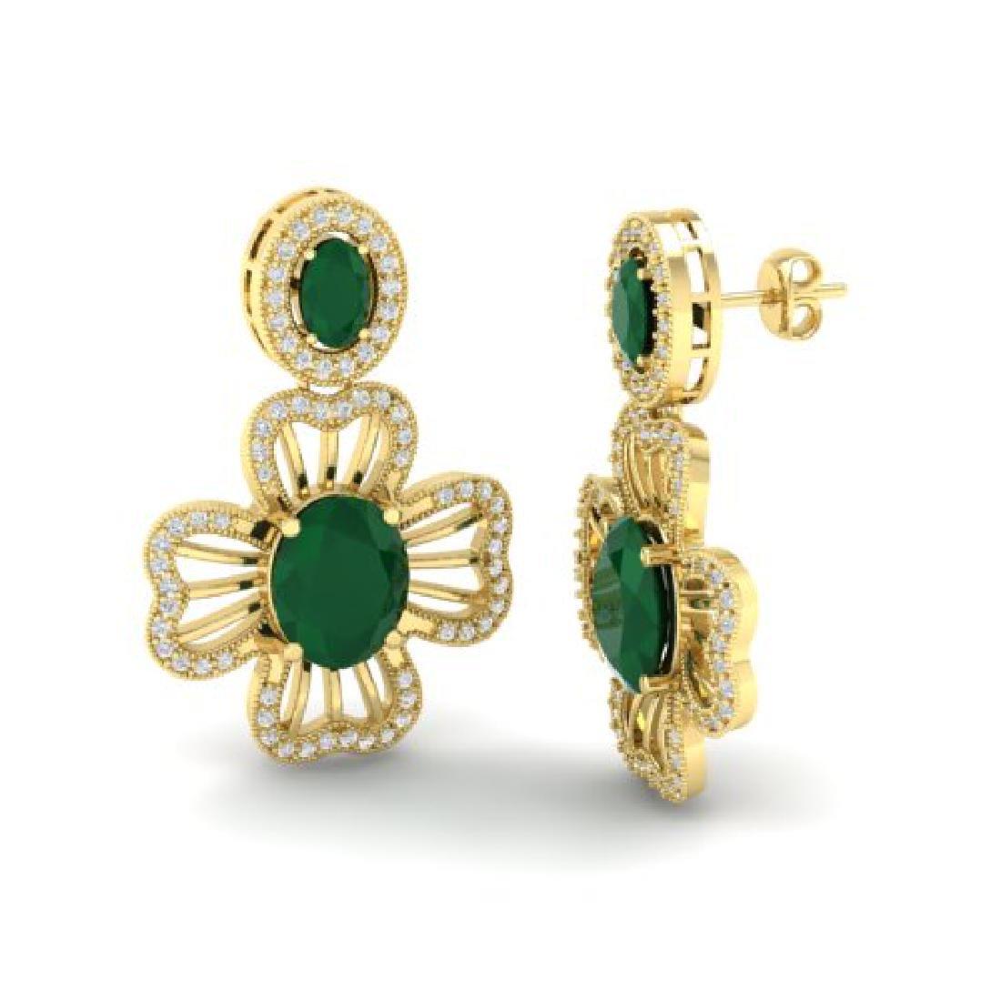 9.26 CTW Emerald & Micro Designer VS/SI Diamond - 2