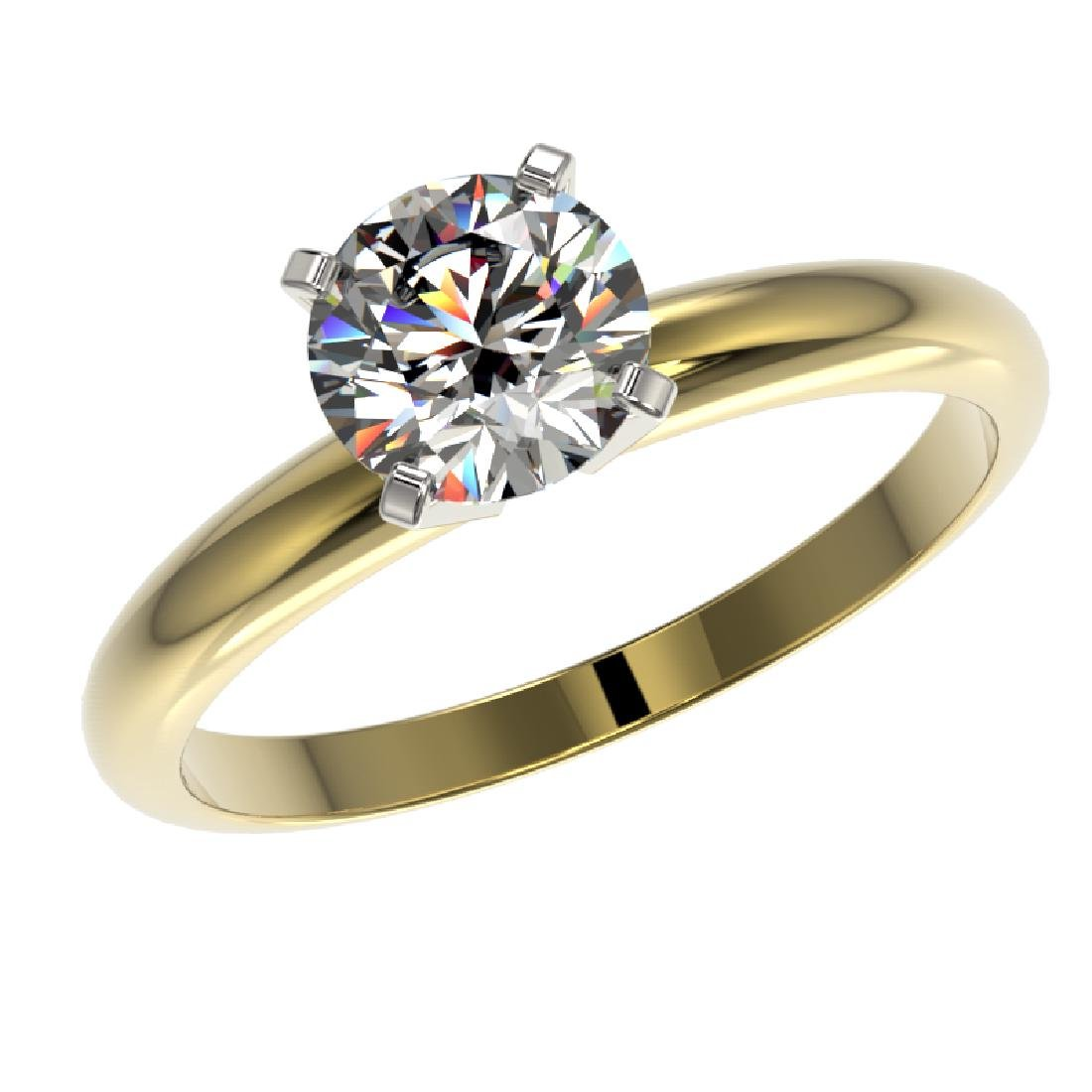 1.27 CTW Certified H-SI/I Quality Diamond Solitaire - 2