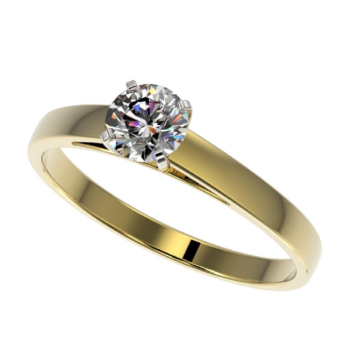 0.53 CTW Certified H-SI/I Quality Diamond Solitaire