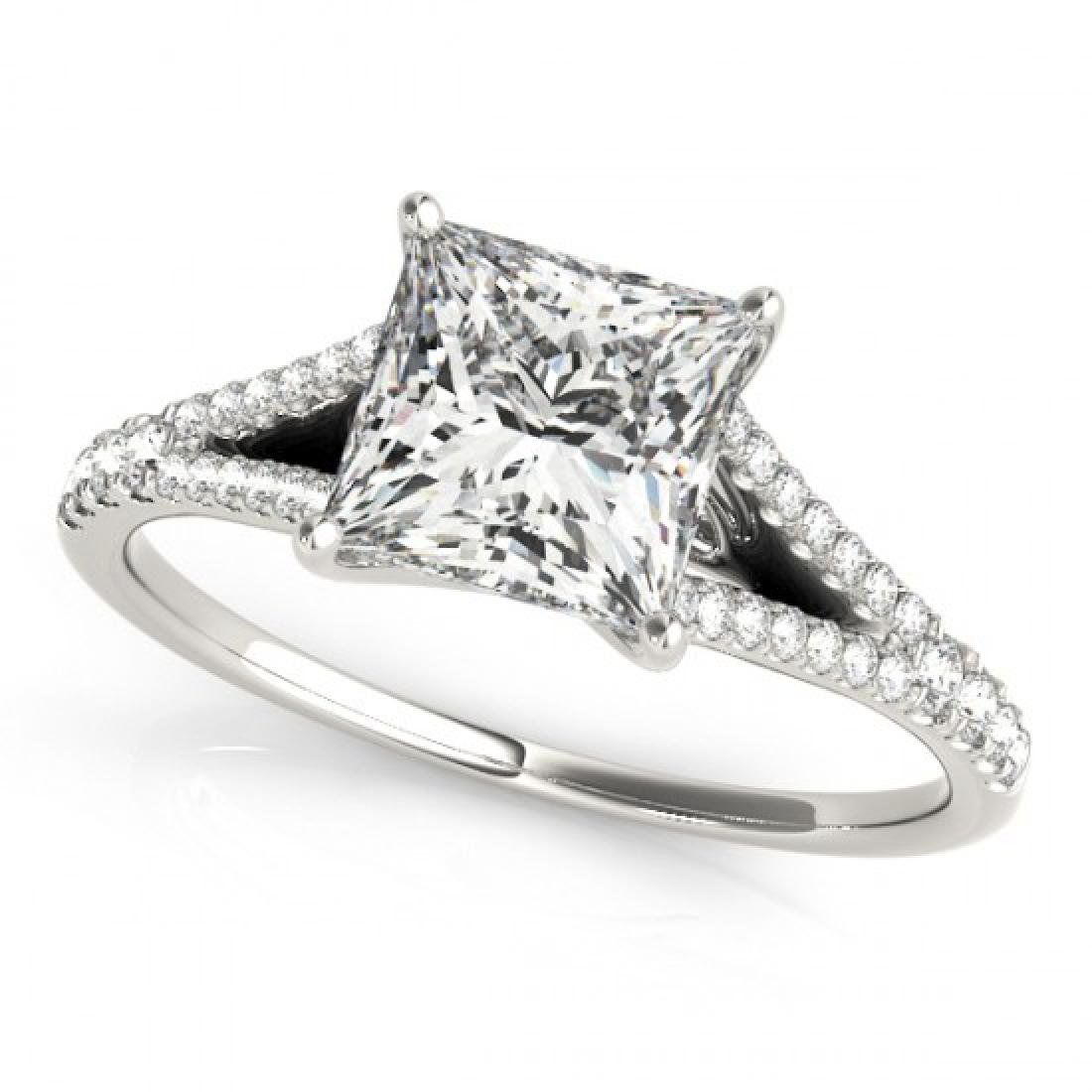0.81 CTW Certified VS/SI Princess Diamond Solitaire