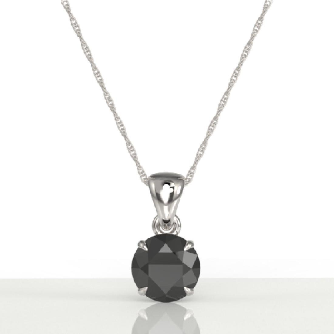 2 CTW Black VS/SI Diamond Inspired Solitaire Necklace - 2