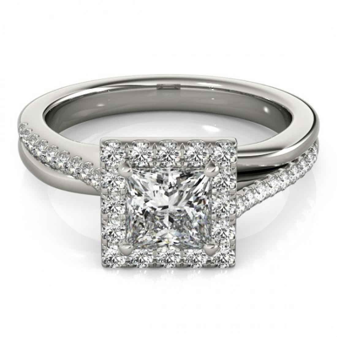 1.25 CTW Certified VS/SI Princess Diamond Solitaire