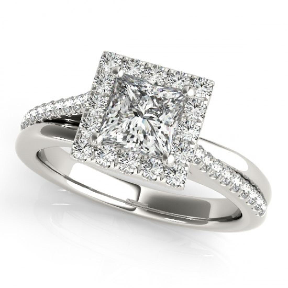 1.25 CTW Certified VS/SI Princess Diamond Solitaire - 2