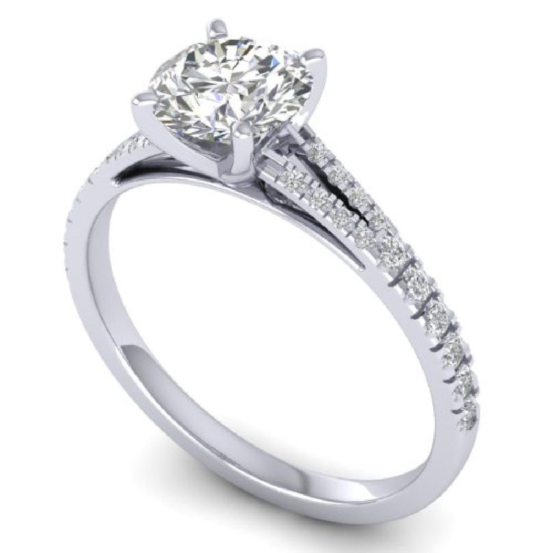 1.36 CTW Certified VS/SI Diamond Solitaire Art Deco - 2