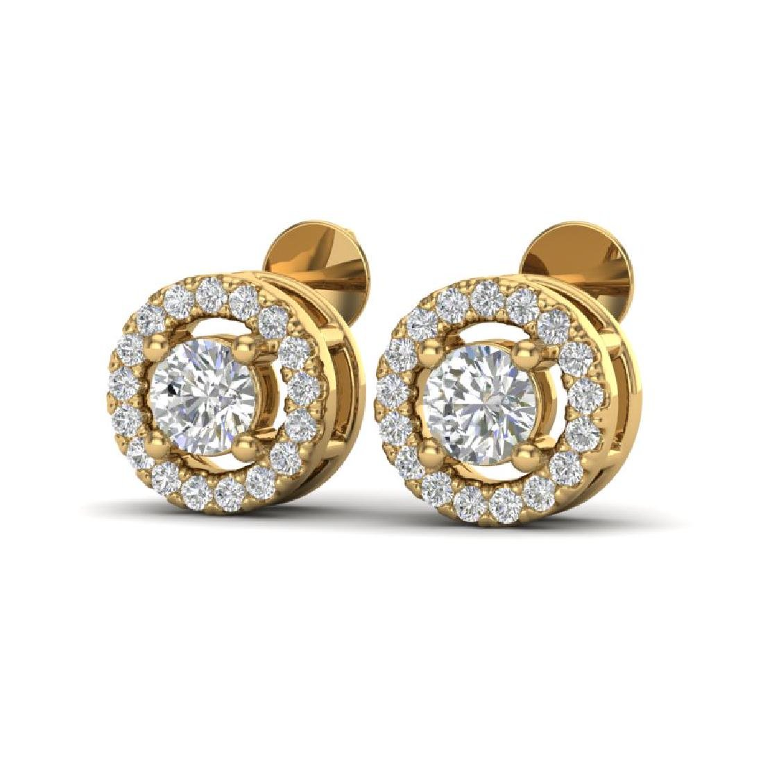 0.65 CTW Micro Pave VS/SI Diamond Earrings Solitaire