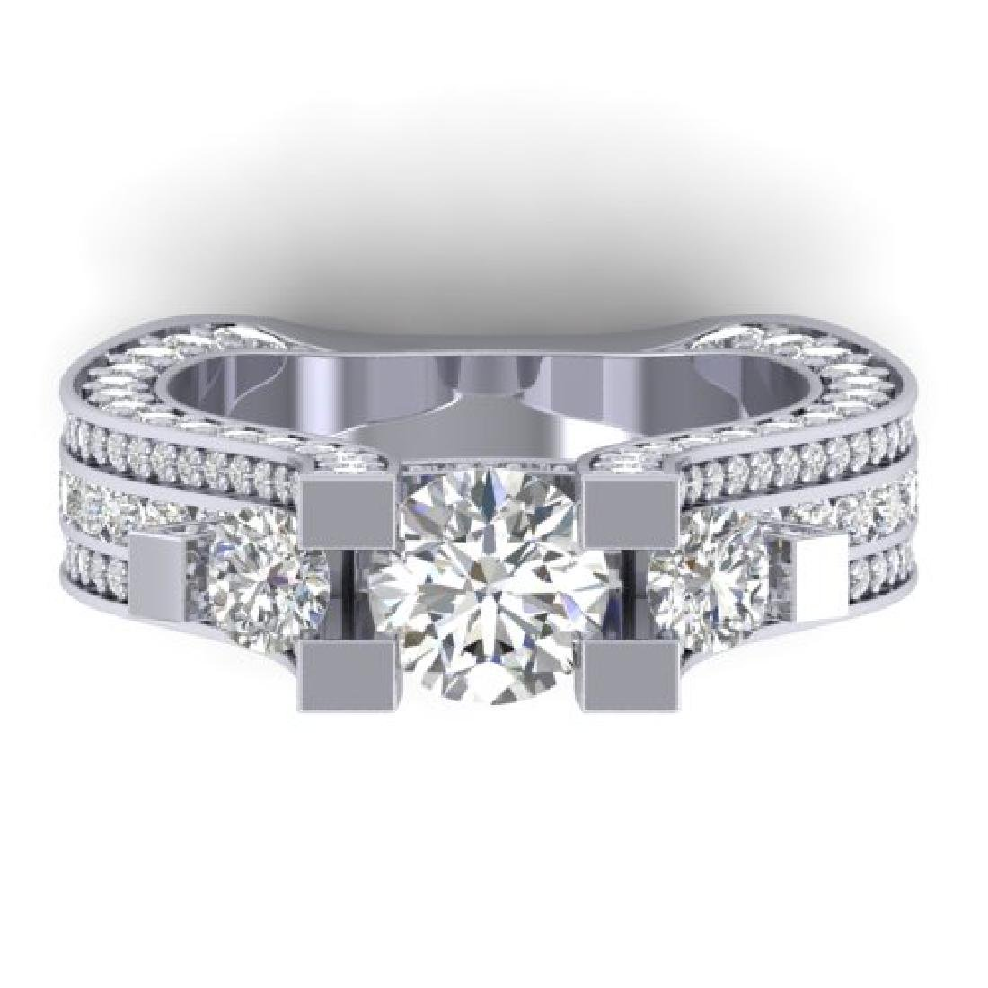 5.5 CTW Certified VS/SI Diamond Art Deco 3 Stone Micro