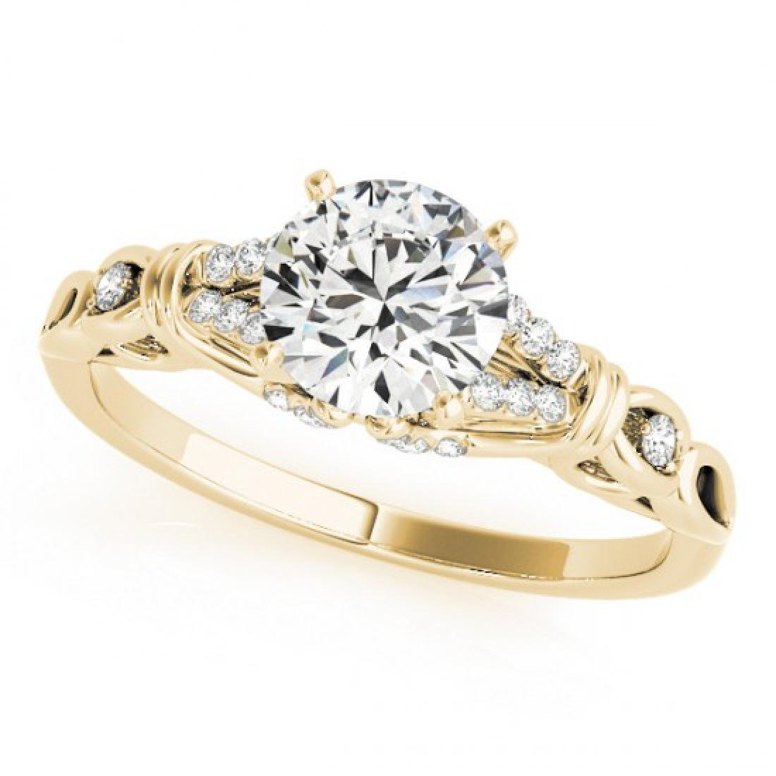 0.95 CTW Certified VS/SI Diamond Solitaire Ring 14K